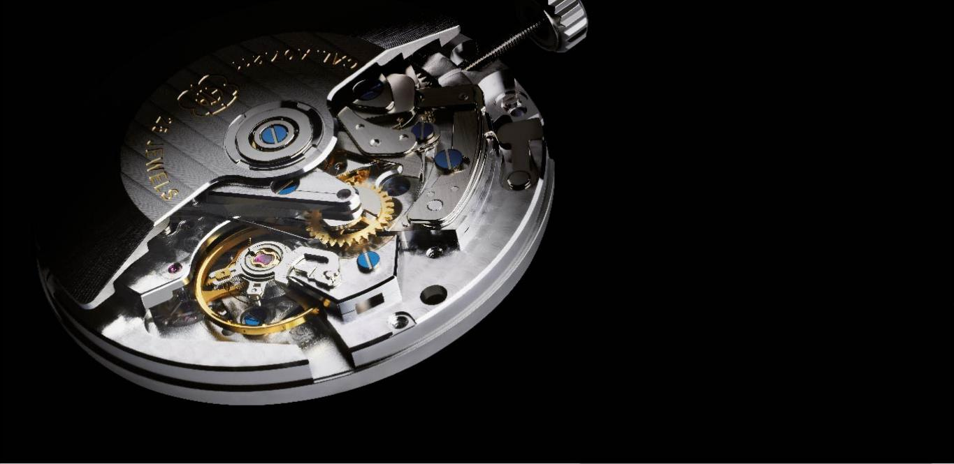 A movement of a watch is the mechanism that measures the passage of time and displays the current time (and possibly other information including date, month and day).